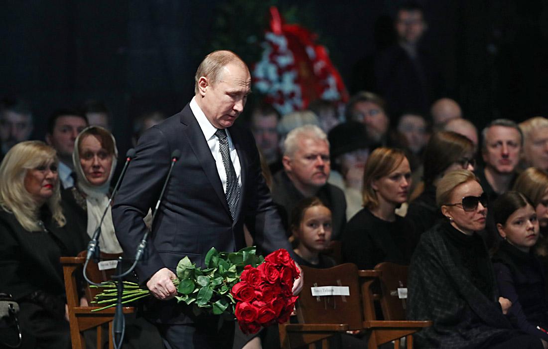Президент РФ Владимир Путин во время церемонии прощания