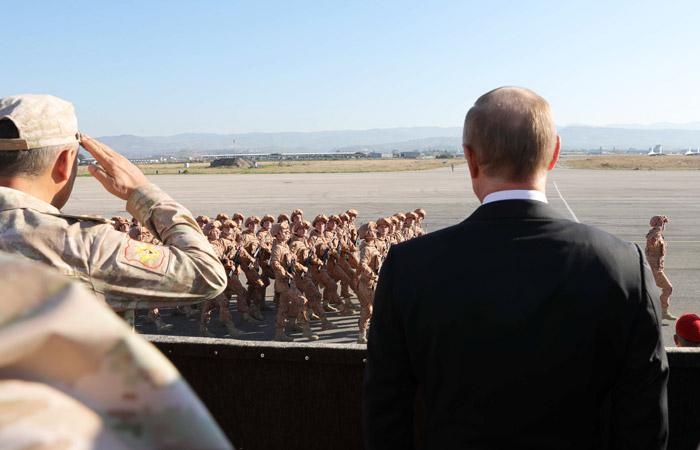 100% российских военных в Сирии проголосовали за Путина