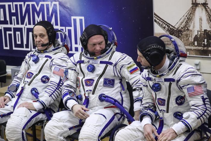 """Экипаж """"Союза МС-08"""" после стыковки перешел на борт МКС"""