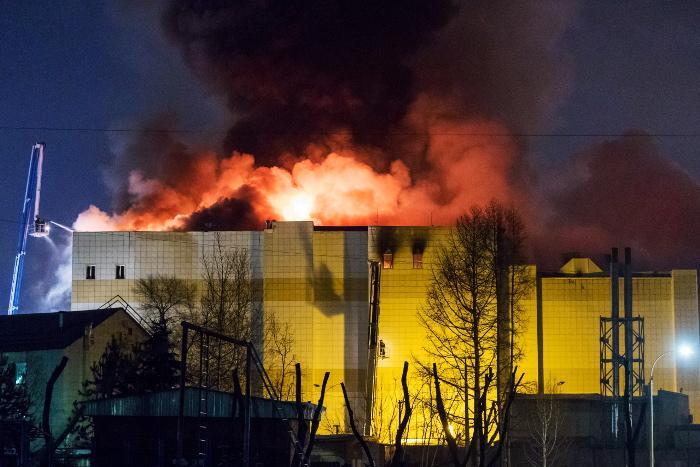 Число погибших  пожара вТЦ вКемерово возросло до  7-ми
