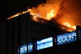 В центре Грозного загорелся многоэтажный жилой дом