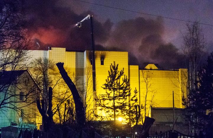 МЧС подтвердило гибель 37 человек во время пожара в Кемерове