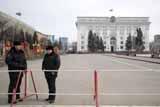 Центральная площадь Кемерова осталась оцепленной спустя два дня после митинга