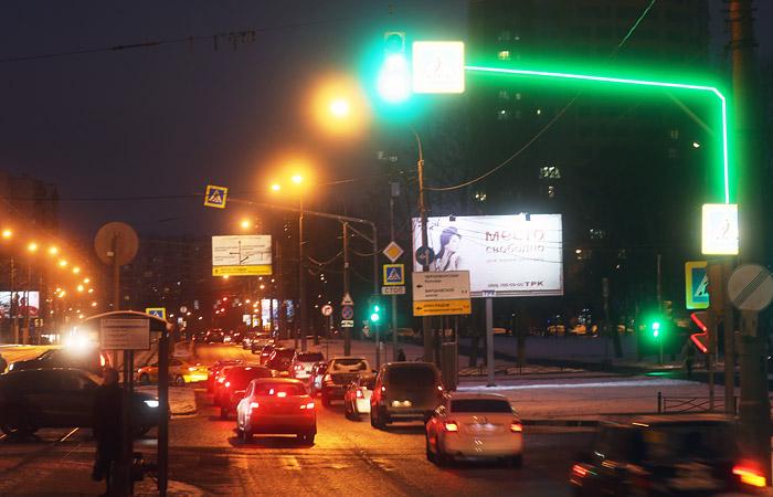 На68 светофорах столицы возникла дополнительная подсветка