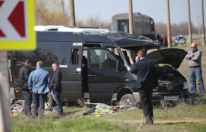 Пофакту столкновения автобуса иэлектрички вКрыму возбудили уголовное дело