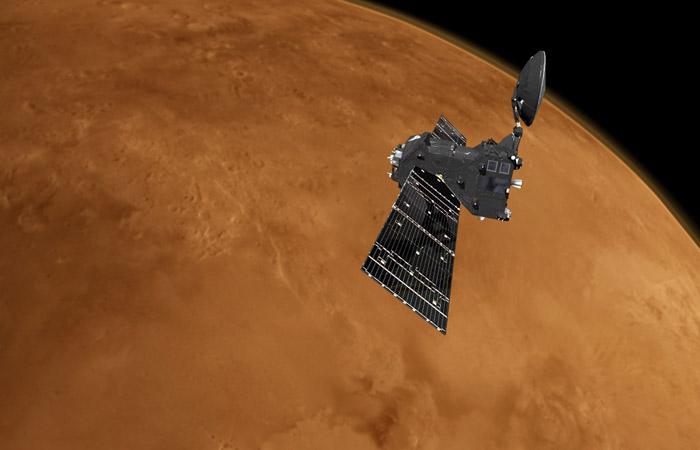Орбитальный зонд Trace Gas Orbiter приступил поиску метана ватмосфере Марса