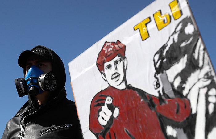 "Митинг против мусорного полигона ""Ядрово"" в Волоколамске. Фото: ТАСС, Артем Геодакян"