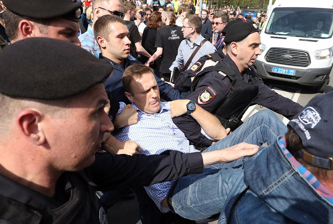Задержание Алексея Навального