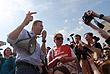 Алексей Навальный успел выступить на акции