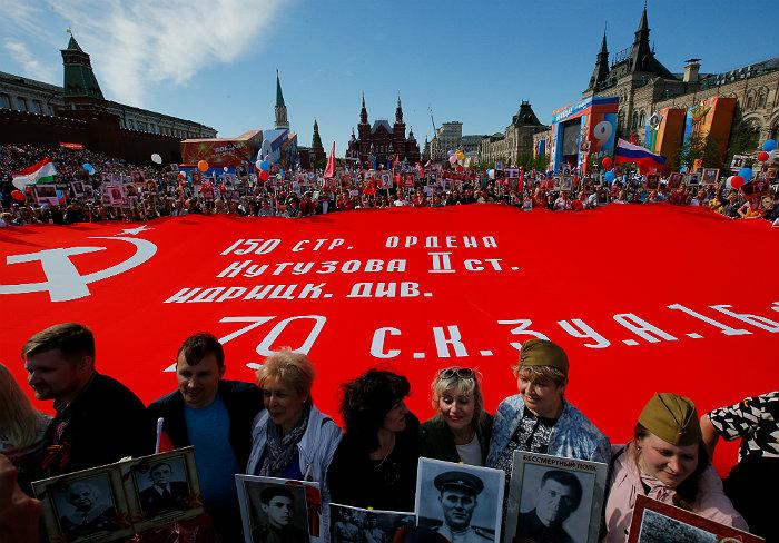 """Около 10,4 млн человек в России приняли участие в акции """"Бессмертный полк"""""""