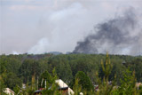 В удмуртском поселке Пугачево из-за природного пожара вновь начали взрываться снаряды