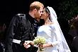Новоиспеченные супруги - принц Гарри, герцог Сассекский и его жена Меган, герцогиня Сассекская