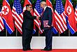 Историческое рукопожатие лидеров двух стран