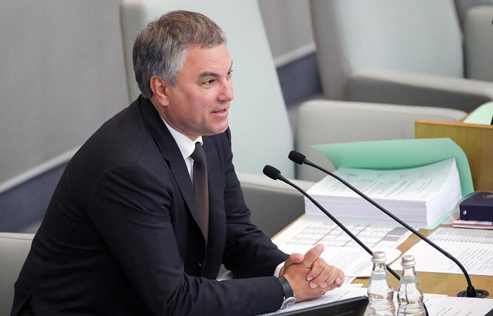Государственная дума может отказаться отуголовной ответственности за выполнение западных санкций— Вячеслав Володин