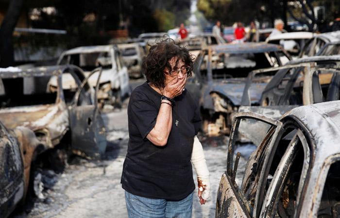 Из-за пожаров в Греции погибли 60 человек