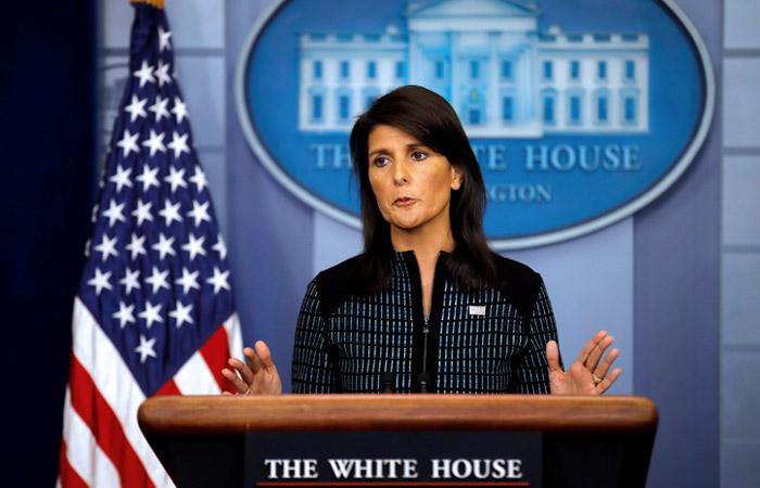 """Хейли заявила, что США и Россия """"никогда не станут друзьями"""""""