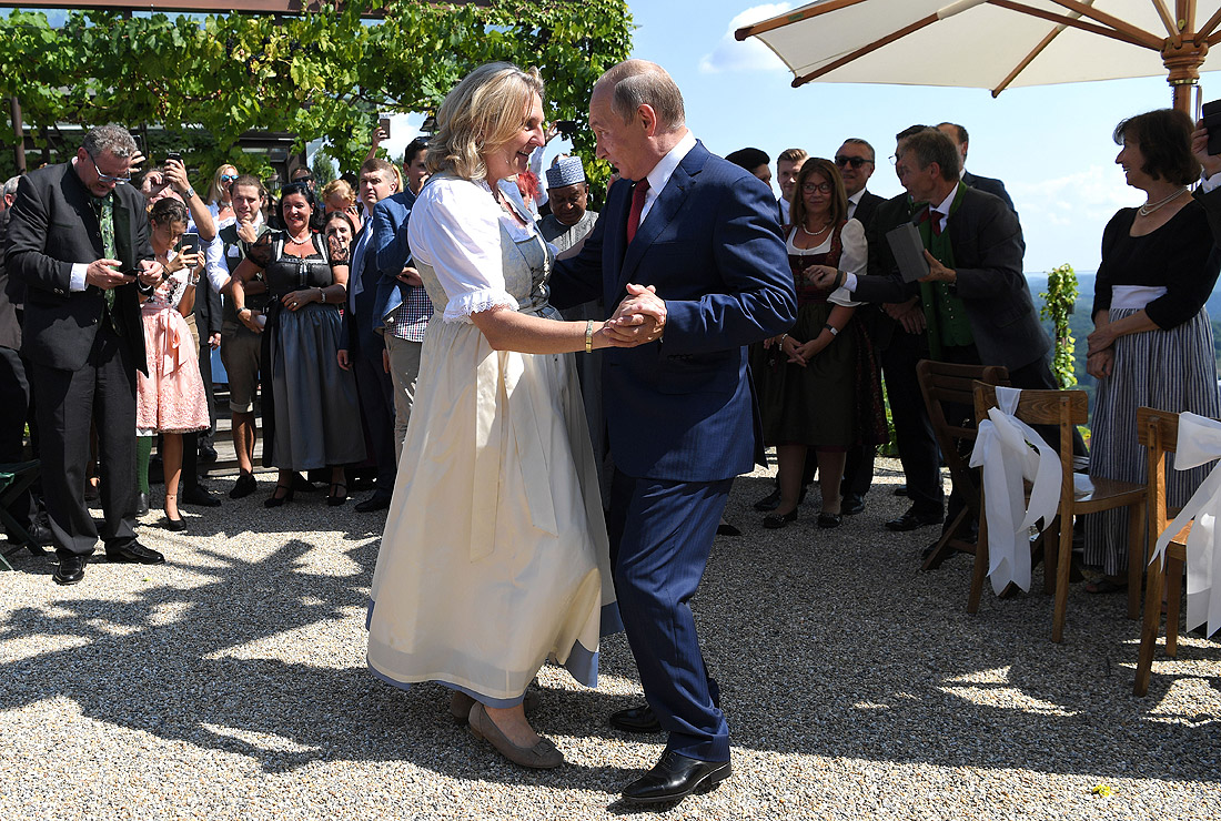 Владимир Путин и Карин Кнайссль