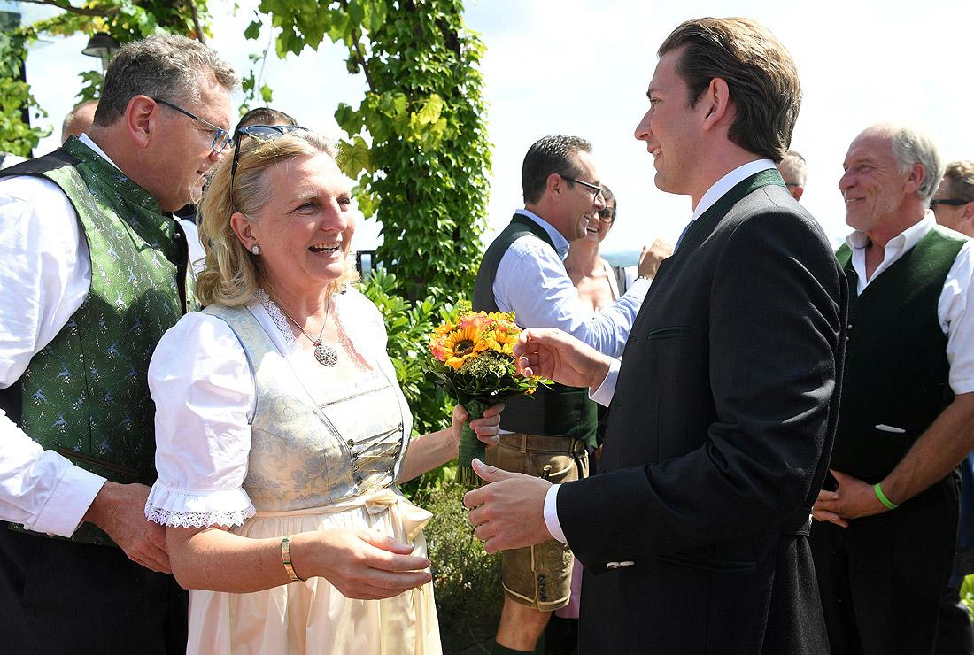 Поздравления молодоженам от австрийского канцлера Себастьяна Курца