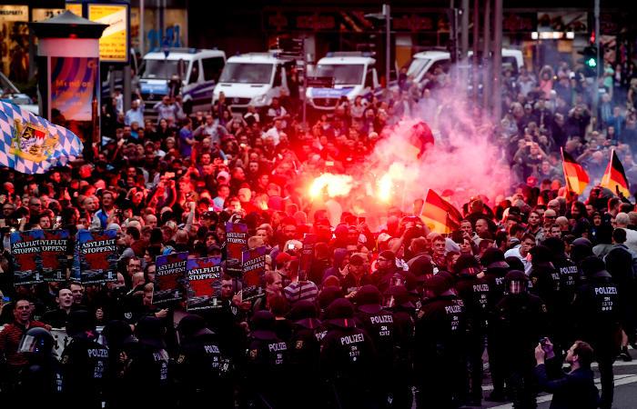 В немецком городе Хемнице произошли беспорядки