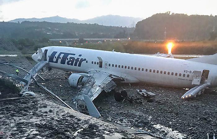 СКР назвал несколько версий инцидента с самолетом в Сочи