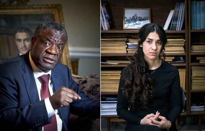 Нобелевскую премию мира получили хирург Денис Муквеге и бывшая пленница ИГ Надя Мурад