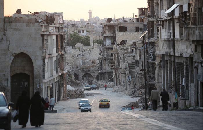 По предварительным данным, боевики обстреляли сирийский город Алеппо снарядами с хлором