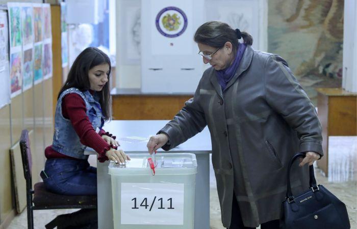 ЦИК Армении опубликовал первые данные