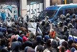 В Барселоне произошли столкновения между полицией и протестующими