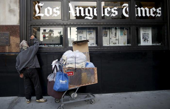 Крупнейшие американские газеты не смогли напечатать очередной тираж