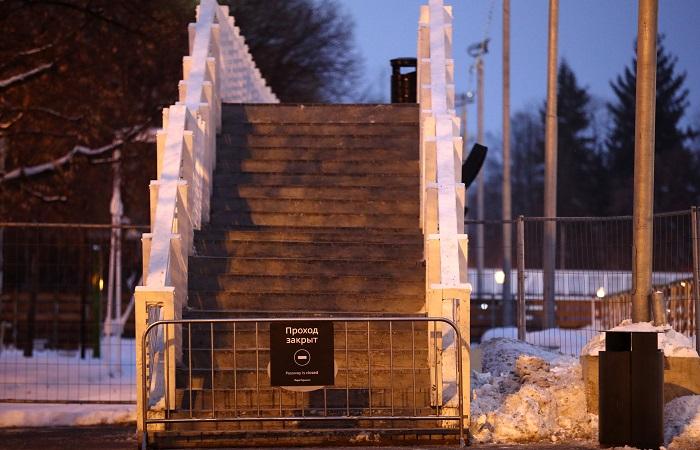 По факту обрушения моста в Парке Горького в новогоднюю ночь начали проверку