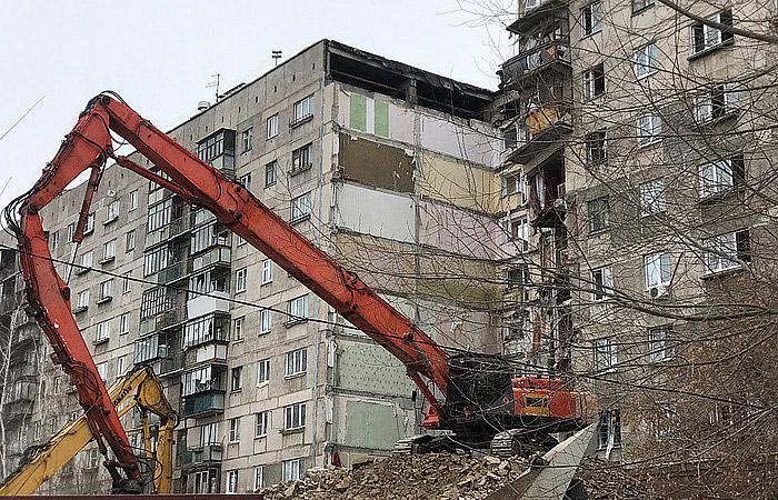 На время демонтажа в доме в Магнитогорске отселят жителей 9-го и 10-го подъездов