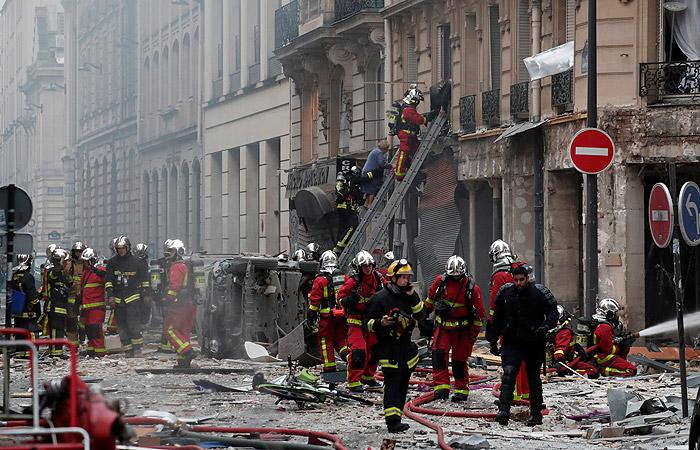 Мощный взрыв произошел в центре Парижа