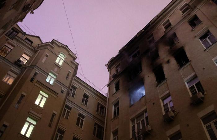 Число погибших при пожаре в центре Москвы возросло до шести человек