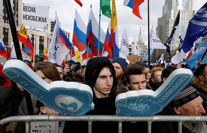 Полиция насчитала 6,5 тысяч участников акции против ограничений в интернете