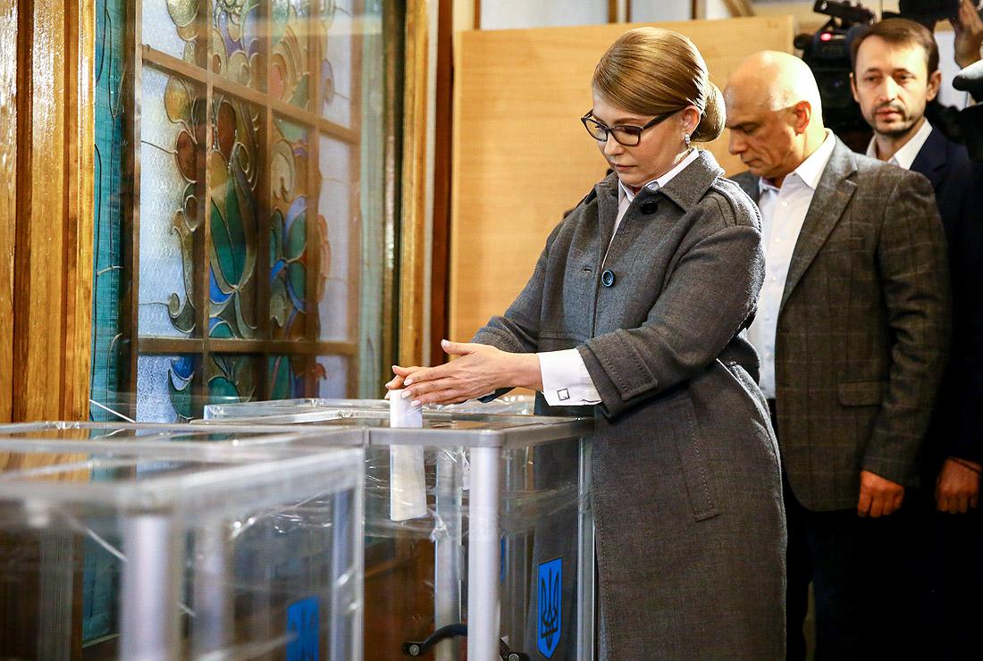 Юлия Тимошенко проголосовала в столице...