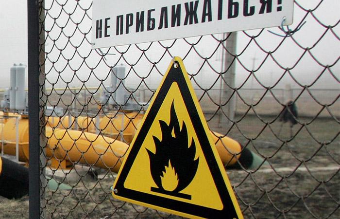 Магистральный газопровод зажегся вСвердловской области