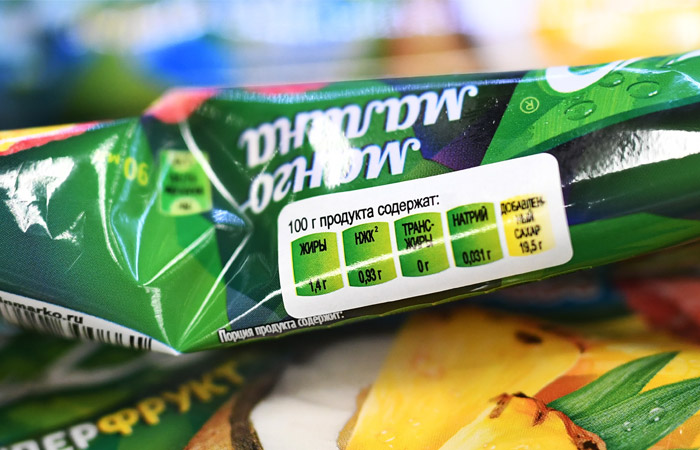 В октябре продукты в России начнут маркировать цветами светофора