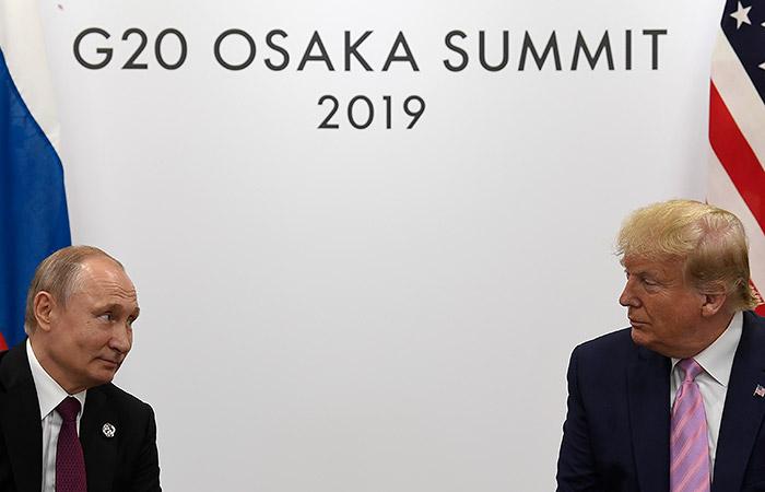 Трамп в Осаке дважды попросил Путина не вмешиваться в выборы в США