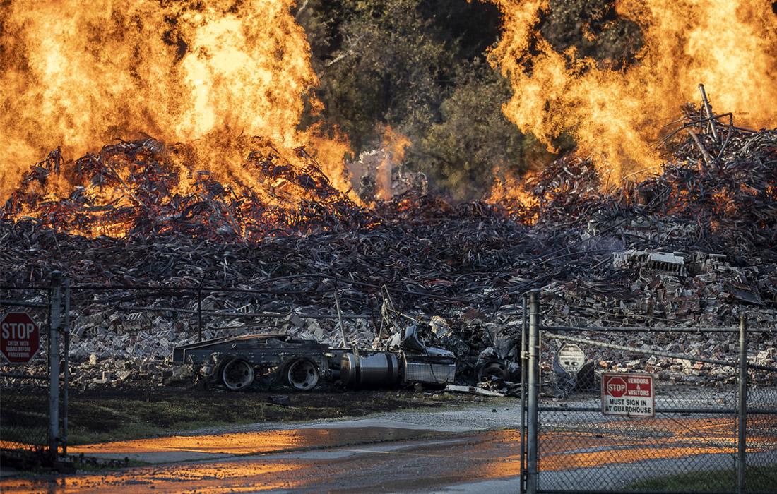 Пожар уничтожил семь миллионов литров виски на складах Jim Beam в Кентукки