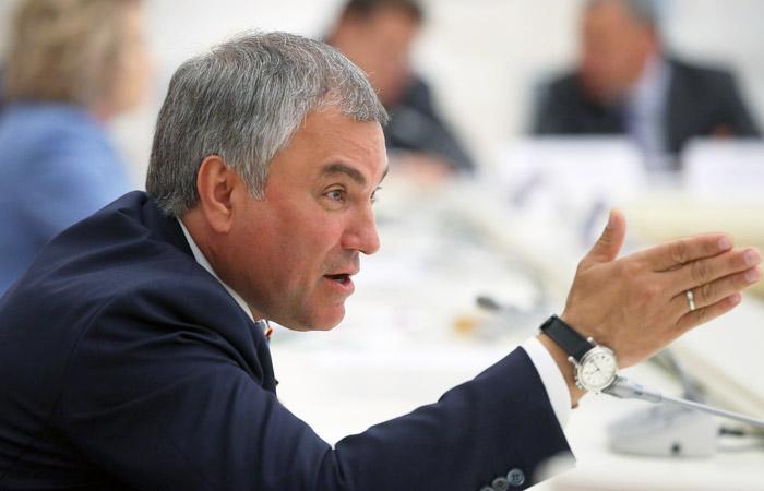 Володин заявил о неизменности позиции Госдумы по Грузии на фоне слов Путина