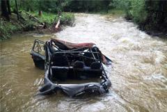 Десять человек погибли в Туве при попытке переехать реку на УАЗе