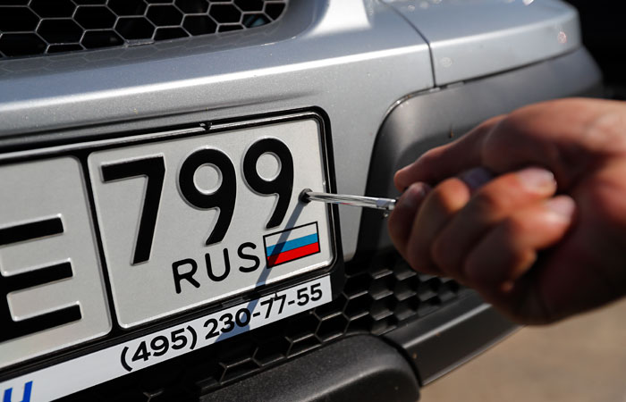Путин упростил получение регистрационных номеров для автомобилей