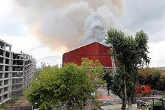 Пожар в нежилом здании в центре Москвы ликвидировали