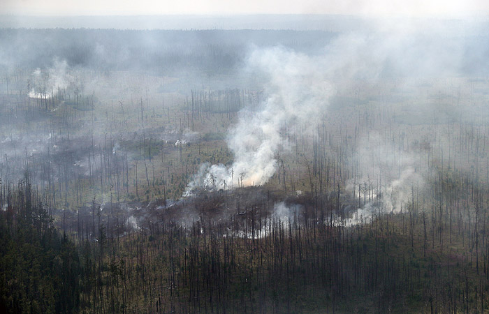 В Красноярском крае потушили пожар на месте взрыва Тунгусского метеорита