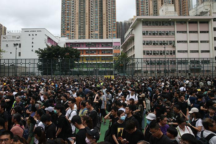 В Гонконге манифестанты вышли на очередную акцию протеста