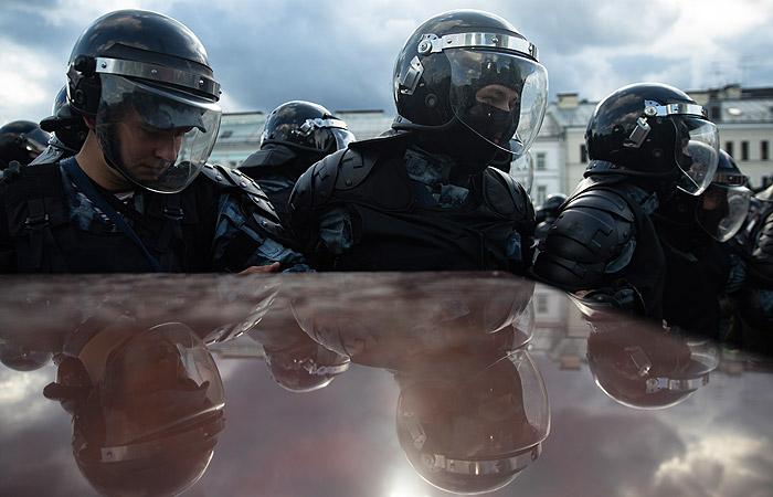 На акции в Москве задержали приезжего, находившегося в розыске за экстремизм
