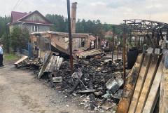 В красноярской Каменке, пострадавшей от взрывов на арсенале, начался пожар