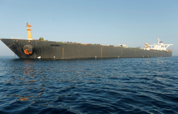 Американский суд выдал ордер на арест иранского танкера, задержанного Гибралтаром