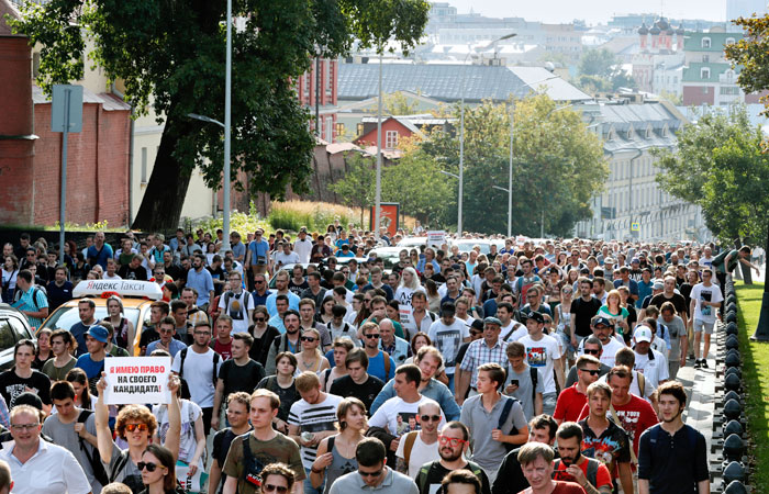Мэрия Москвы не согласовала оппозиции шествие по Тверской 31 августа