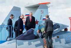 Путин на МАКС-2019 показал Эрдогану новейший истребитель Су-57